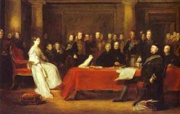 The first council of queen victoria 1838 xx royal collection uk